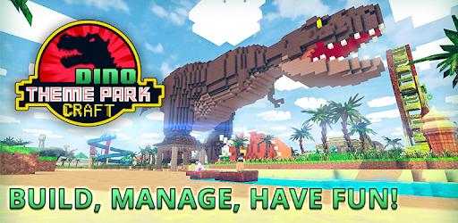 Dino Theme Park Craft: Ride Dinosaur Rollercoaster apk