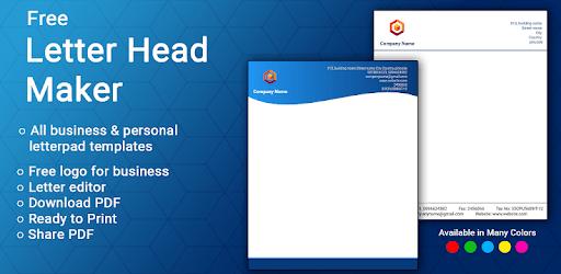 Letterhead Maker Business letter pad template Logo apk