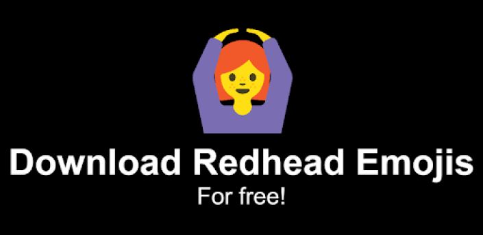Redhead Emoji Stickers apk