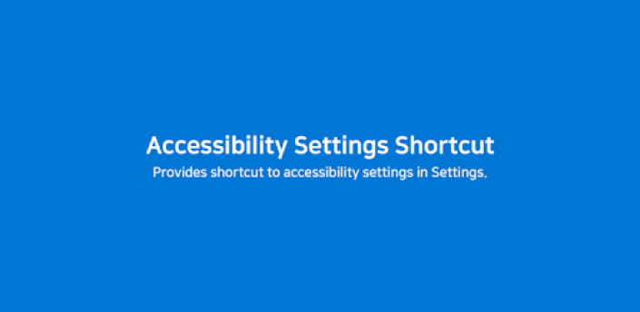 Accessibility Settings Shortcut apk