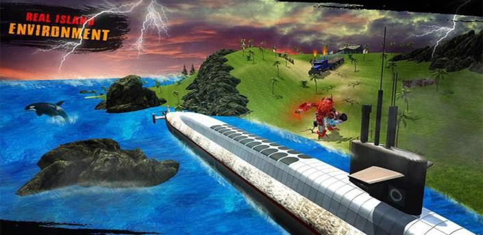 Underwater Robot Transform Future Transport Game apk