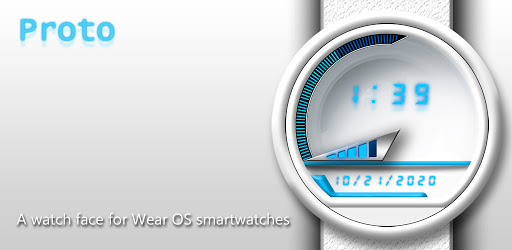 Watch Face: Proto White 360 - Wear OS Smartwatch apk