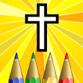 Christian Colouring Icon