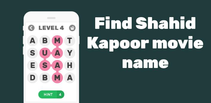 Find Shahid Kapoor movie names apk