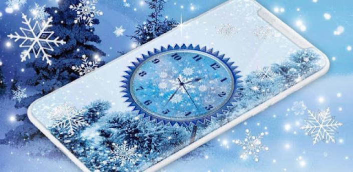 Winter Snow Clock Wallpaper ❄️ HD Live Wallpapers apk