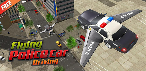 Flying Police Car Driving: Real Police Car Racing apk