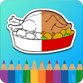 Coloring Book for kids : Food Icon