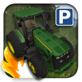 3D Tractor Car Parking Icon