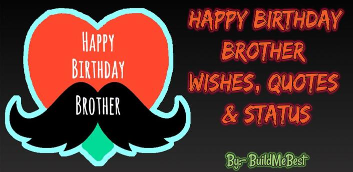 Birthday wishes for Brother, Quotes, Greeting Card apk