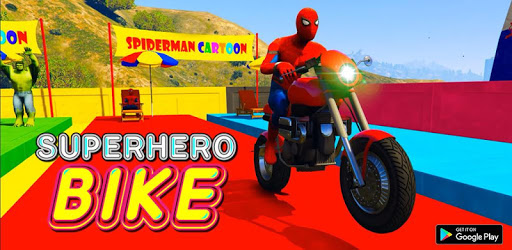 Superhero Tricky bike race (kids games) apk