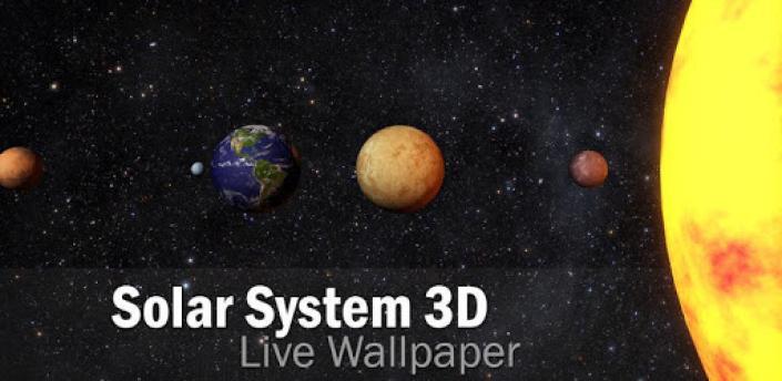 Solar System 3D Free Live Wallpaper apk