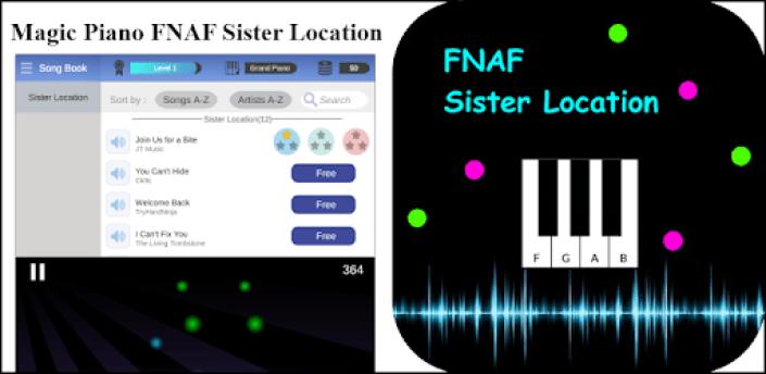 Piano Tap fnaf Sister Location apk