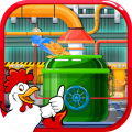 Poultry Chicken Food Factory Icon