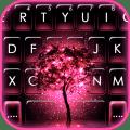 Neon Pink Galaxy Keyboard Theme Icon