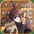 Anime Skater Boy Keyboard Background Icon