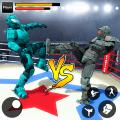 Robot Ring Fighting Real Robot VS Superhero Robot Icon