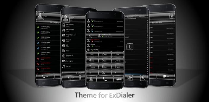 Dialer FrameBlack Silver Theme apk