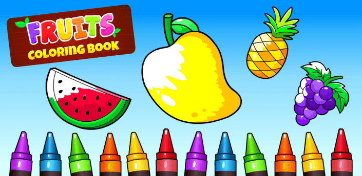Fruits Coloring Pages - Game for Preschool Kids apk