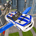 Drive Real Futuristic Police Flying Car 3D Icon
