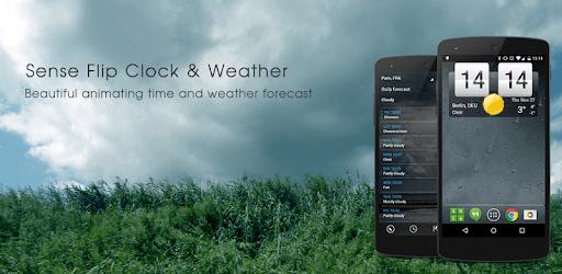 Sense Flip Clock & Weather (Ad-free) apk