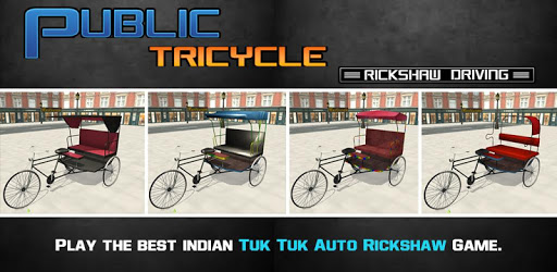 Bicycle Rickshaw Simulator 2019 : Taxi Game apk