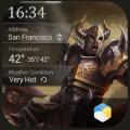world saving hero clock widget Icon