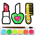 Glitter Beauty Accessories Coloring and drawing Icon