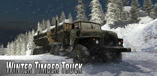 Winter Timber Truck Simulator apk