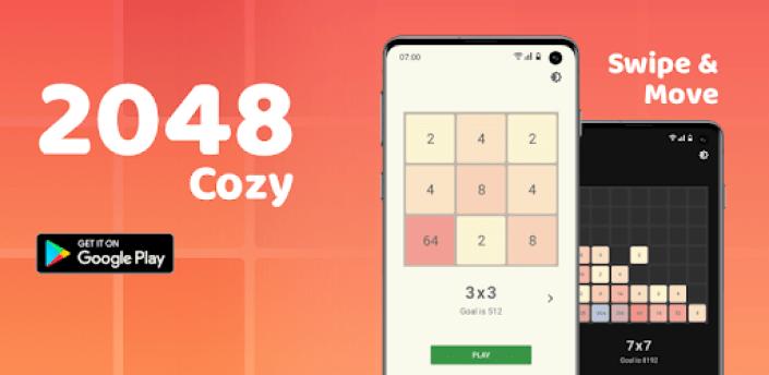2048 Cozy: Number Puzzle Game, Classic & 4 modes apk