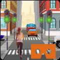 VR Traffic Run 360 Icon