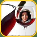 Wine glass Photo Frame Montage Icon