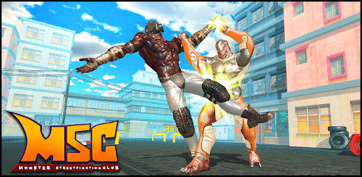 Monster Street Fighting Club : Wrestling Games apk