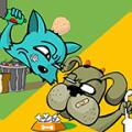 Dog Cat Fight Icon