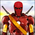 Iron Superhero War Ninja Battle Royal Game Wallpapers Icon
