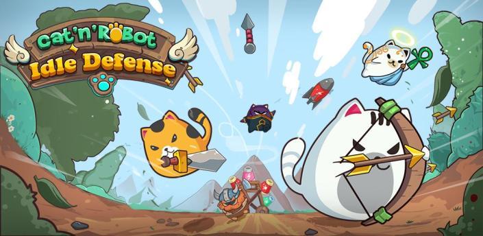 Cat'n'Robot: Idle Defense - Cute Castle TD PVP apk