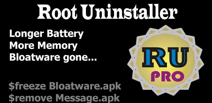 Root Uninstaller Pro apk