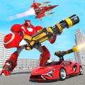 Flying Robot Car Transform Robot Hero Robot Games Icon
