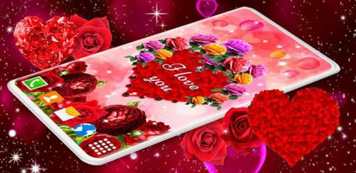 Diamond Hearts Live Wallpaper 💎 Love 4K Wallpaper apk