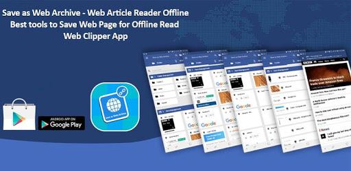 Save as Web Archive - Web Article Reader Offline apk