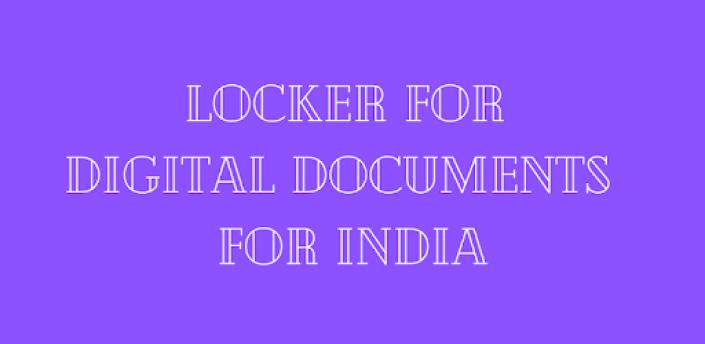 LOCKER FOR DIGITAL DOCUMENTS APP FOR INDIA apk
