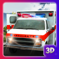 city ambulance rescue driving Icon