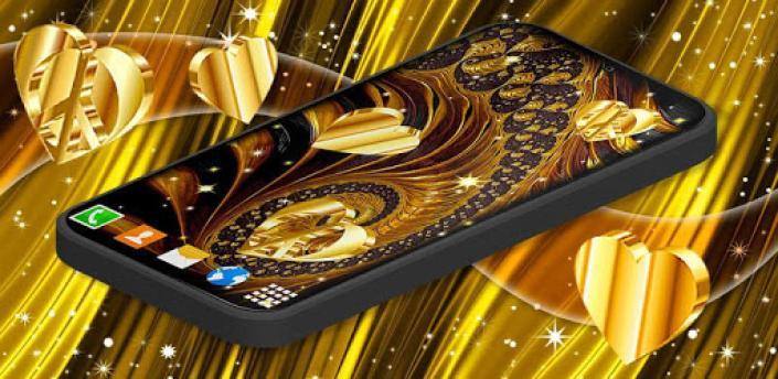 Gold Hearts 4K Wallpaper 💛 Golden live Wallpaper apk