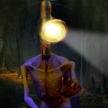 Light Head Scary Horror Forest: Siren Head Game Icon