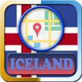 Iceland Maps And Direction Icon
