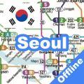 SEOUL KTX METRO SUBWAY MAP Icon