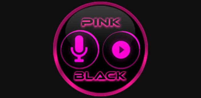 Flat Black and Pink Icon Pack Free apk
