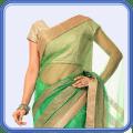 Women Transparent Saree Photo Suit Icon