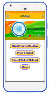 Flight booking App Screen 1