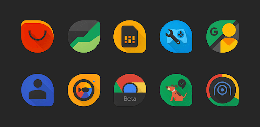 Blackdrop - Black teardrop icons apk