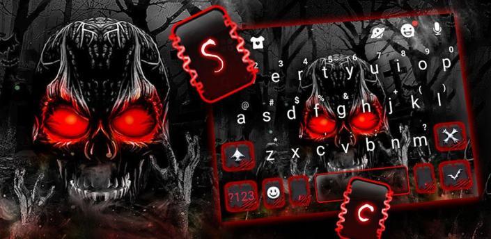 Zombie Skull Keyboard Theme apk